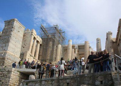 חזית הכניסה לאקרופוליס באתונה